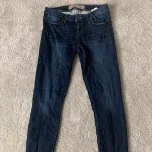 Guess LA 1981 Dark Denim Jeans Skinny Crinkle 26